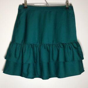 NWT J.Crew Ruffle Wool Flannel Midi Skirt